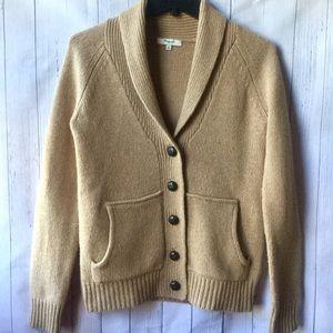Madewell Beige Wool Button Down Cozy Cardigan